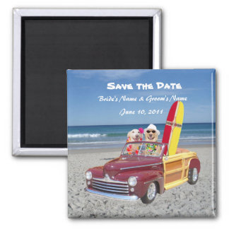 Save the Date - Beach Wedding Magnet