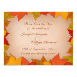 Save the Date Beautiful Fall Autumn Leaves
