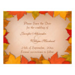 Save the Date Beautiful Fall Autumn Leaves Announcements