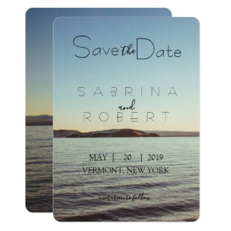 Save the date - Beautiful lake view Card