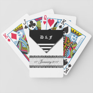 Save the date bicycle playing cards