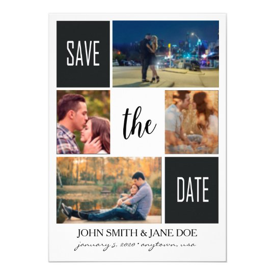 Save the Date Blocked 5x7 Card
