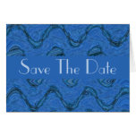 Save the Date blue pattern