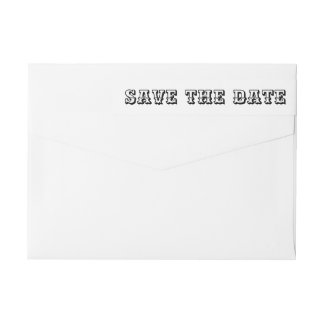 Save The Date Bold Typography Script Wrap Around Label