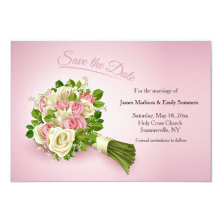 """Save the Date Bouquet 3.5"""" X 5"""" Invitation Card"""
