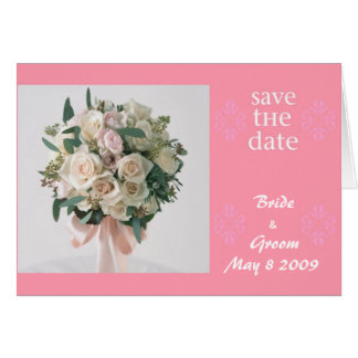 Save the Date-Bouquet Card