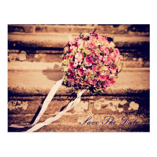 Save the Date Bouquet Postcard