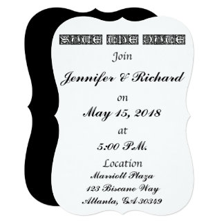 Save the Date: Box Letters by Sacred Memories Card
