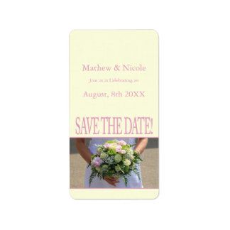 Save the Date Bride & Bouquet