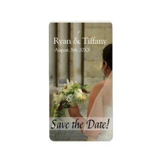 Save the Date Bride & Bouquet