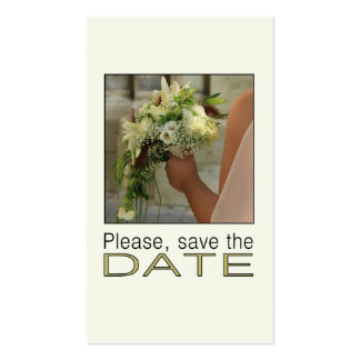 Save the Date Bride & Bouquet Business Card