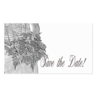 Save the Date Bride & Bouquet Pack Of Standard Business Cards