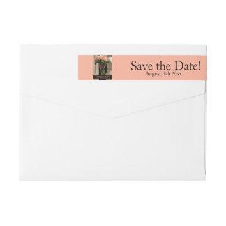 Save the Date Bride & Bouquet Wraparound Return Address Label
