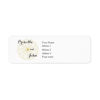 Save the Date Bride Groom Adress label, 0,75x2,25