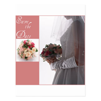 Save the date-Bride Postcard