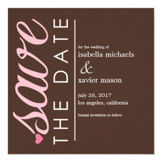 Save The Date | Brown Save The Date Announcement