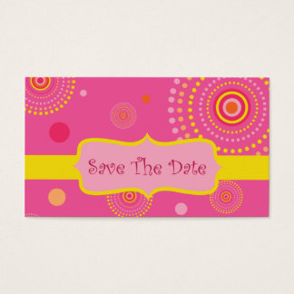 Save The Date Business Card