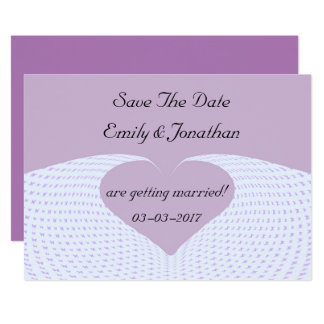 Save The Date Butterfly Heart Invitation