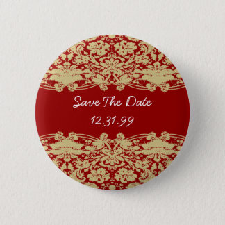 Save The Date Button-Personalizable Text 2 Inch Round Button