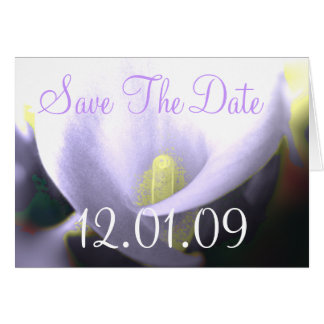 Save the Date Cala Lily - Lavender and Yellow Card