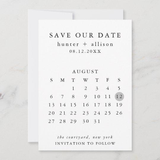 Emu Calendar.Save The Date Calendar