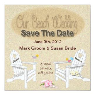 SAVE THE DATE CARD - BEACH WEDDING