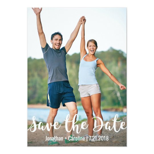 Save the Date Card | Fun, Modern, Casual, Photo