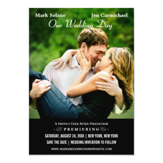 Save the Date Card | Movie Poster Design