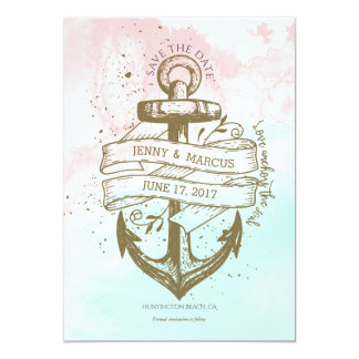 Save the Date Card - Nautical Watercolor