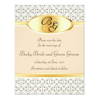Save the Date Card Peaches and Cream