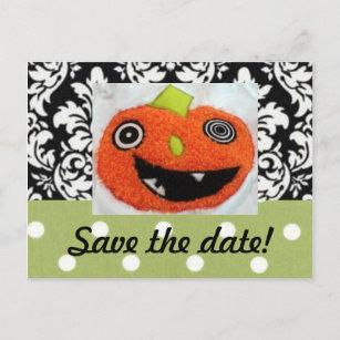 Custom Halloween Save The Date Postcards Zazzle Ca