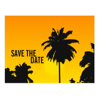 Save the Date Cards Palm Trees Sun