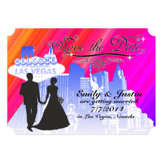 SAVE THE DATE CARDS WITH VIEW OF LAS VEGAS, NEVADA