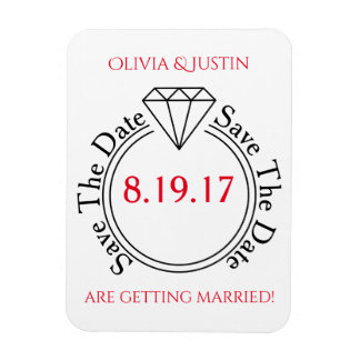 Save The Date Casual Stick Figure Wedding Magnet