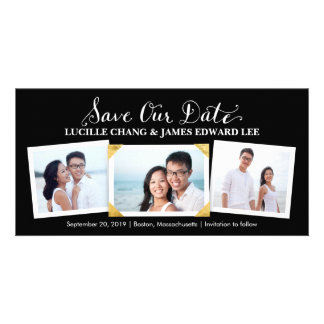 Save the Date | Cherished Snapshots Photocard Photo Card Template