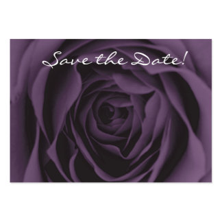 Save the Date Chubby Business Card Purple Rose