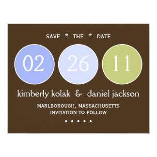 """""""Save the Date"""" Circles Card"""