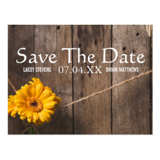 Save the Date Country Western Postcard