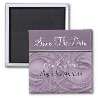 """Save the Date"" Curls Over Purple Magnet"