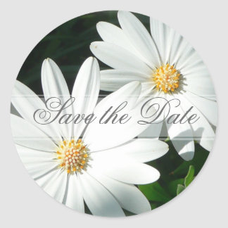 Save the Date Custom Floral Sticker