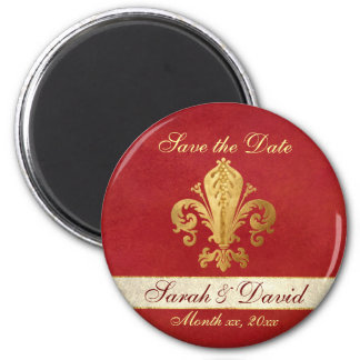Save the Date Customizable 2 Inch Round Magnet