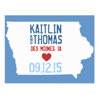Save the Date - Customizable - Iowa Postcard