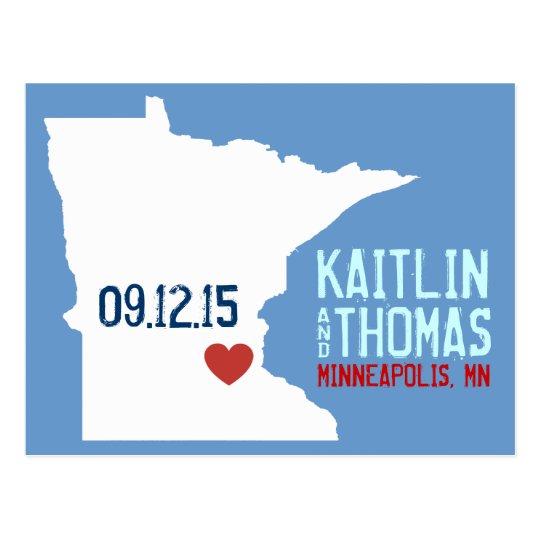 Save the Date - Customizable - Minnesota Postcard