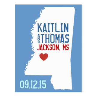 Save the Date - Customizable - Mississippi Postcard