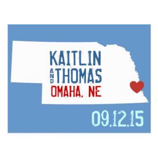 Save the Date - Customizable - Nebraska Postcard