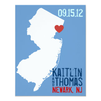 Save the Date - Customizable - New Jersey Card