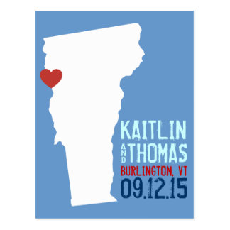 Save the Date - Customizable - Vermont Postcard