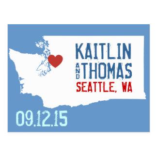 Save the Date - Customizable - Washington Postcard