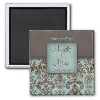 Save the Date Damask Magnet