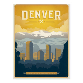 Save the Date | Denver, CO Postcard